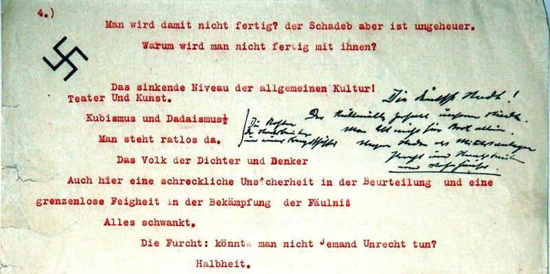 """Typoskript zu dem Buch """"Mein Kampf"""" von Adolf Hitler"""